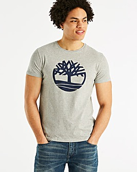 Timberland Grey Tree Logo T-Shirt R