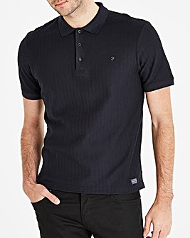 Farah Jeans Chevron Textured Polo