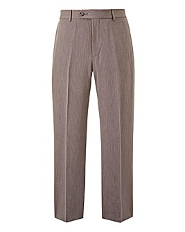 Farah Grey Stretch Twill Trousers 31in