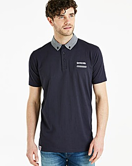 Lambretta Print Collar Polo Long
