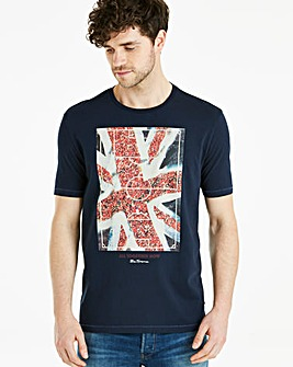 Ben Sherman Union Jack Fans T-Shirt Long