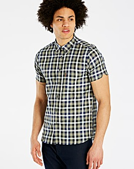 Ben Sherman Mix Texture Check Shirt Long