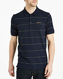 Ben Sherman Stripe Pique Polo Long