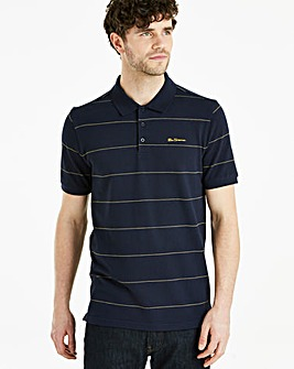 Ben Sherman Stripe Pique Polo Regular