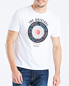 Ben Sherman Text Target T-Shirt Long