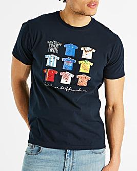 Weekend Offender Navy Football T-Shirt R