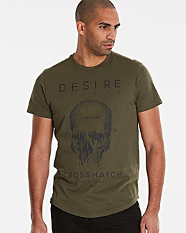 Crosshatch Dark Olive Desire T-Shirt R