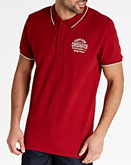 Crosshatch Dark Red Seton Polo R