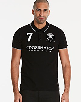 Crosshatch Black Lazaros Polo R