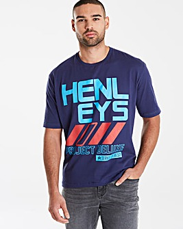 Henleys Navy Actuary T-Shirt L