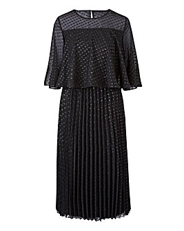 Black Spot Cape Midi Dress