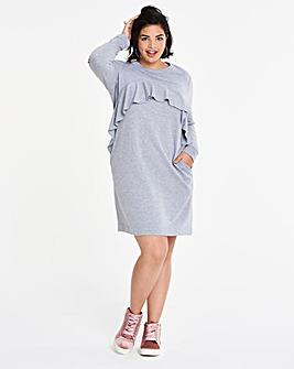 Ruffle Front Sweater Dress