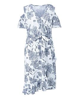 Petite Wrap Linen Dress