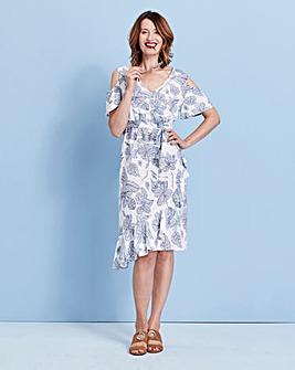 Wrap Linen Mix Dress