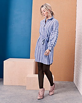 Blouson Sleeve Shirt Dress