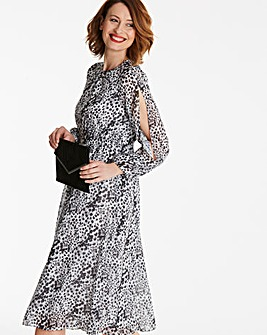 Split Sleeve Midi Dress