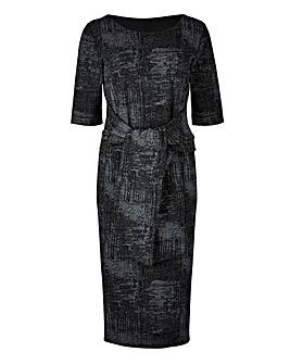 Tie Front Bodycon Dress
