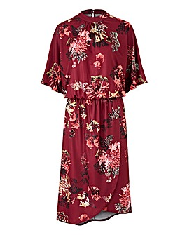 Petite Kimono Dress with Wrap Skirt