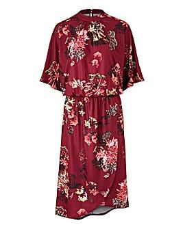 Petite Kimono Dress with Wrap Skirt