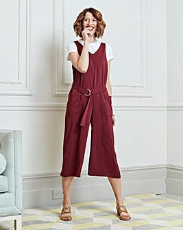 Cropped Pocket Jumpsuit