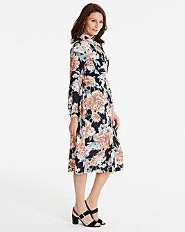 High Neck A line Dress