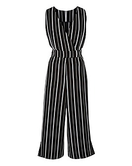 Petite Stripe Side Split Jumpsuit