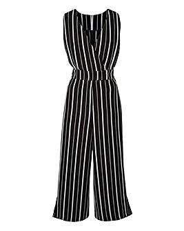 Petite Stripe Side Split Jumpsuit