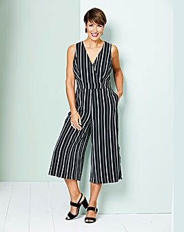 Stripe Side Split Jumpsuit