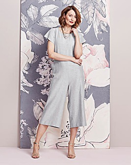 Linen Jumpsuit with Back Detail
