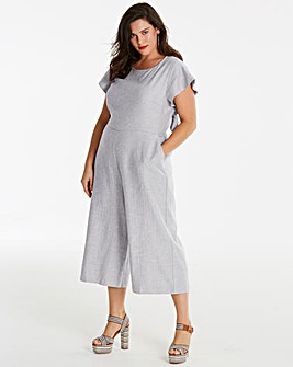 Linen Jumpsuit with Back Detail