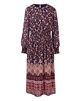 Petite Split Sleeve Midi Dress