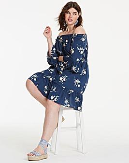 Bardot Frill Hem Dress