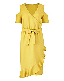 Petite Wrap Linen Dress