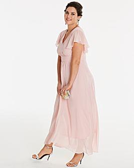 Angel Sleeve Bridesmaid Maxi Dress
