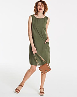 Linen Mix Shift Dress