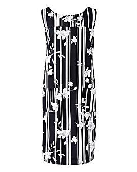 V-Back Linen Dress