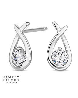 Simply Silver twist stud earring