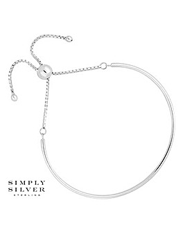 Simply Silver bangle toggle bracelet