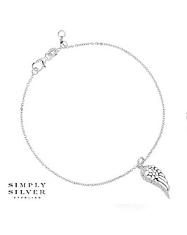 Simply Silver angel wing bracelet