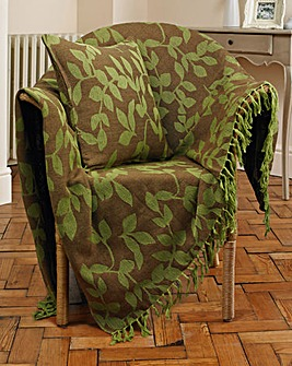 Reversible Leaf Jacquard Throw Pack of 2