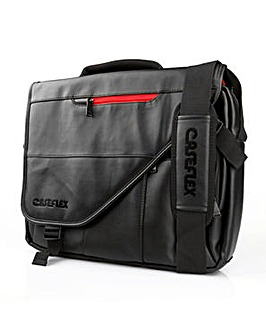 Leather-Effect Laptop Messenger Bag