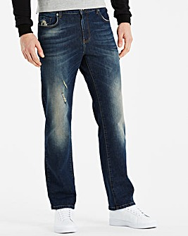 Jacamo Straight Fit Jeans 29in