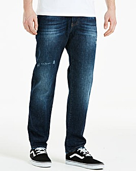 Jacamo Crosshatch Wash Jeans 33in