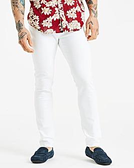 Jacamo White Skinny Jeans 29in