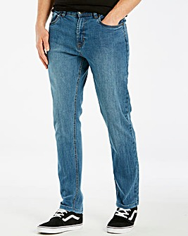 Union Blues Stonewash Tapered Jeans 33in