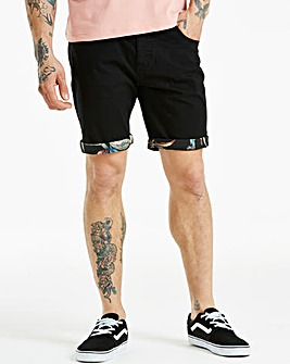 Jacamo Black Attica Chino Short