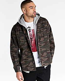 Jacamo Camo Overshirt Long