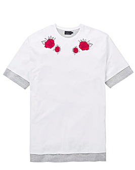 Label J Panther Rose Back Print T-Shirt