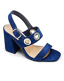 Sole Diva Eyelet Detail Sandals EEE Fit