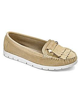 Heavenly Soles Suede Loafers E Fit